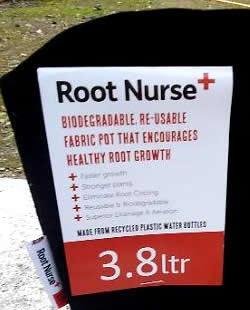 We are now suppliers of root nurse fabric pots